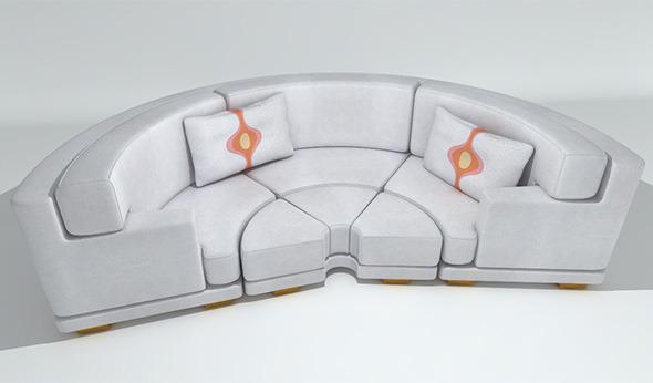 3DOcean Circular Leather Sofa 3471387