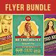Retro Party Flyers Bundle - GraphicRiver Item for Sale