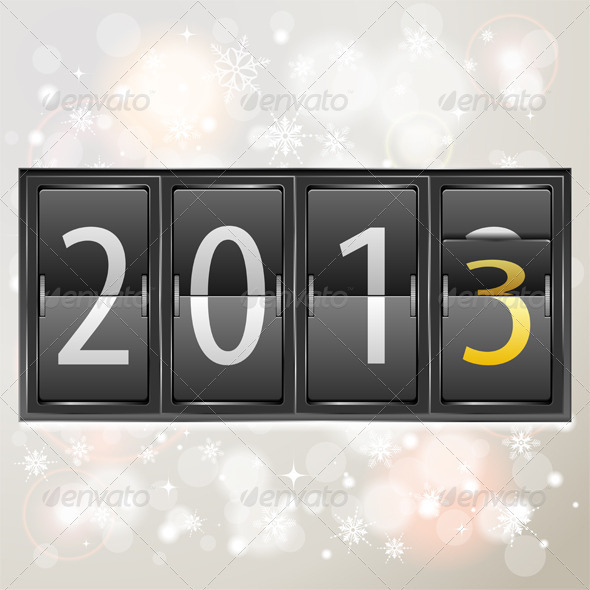 GraphicRiver New Year 2013 on Mechanical Timetable 3484040
