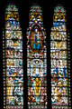 The mosaic window in basilique Notre Dame de Fourviere, Lyon, France. - PhotoDune Item for Sale