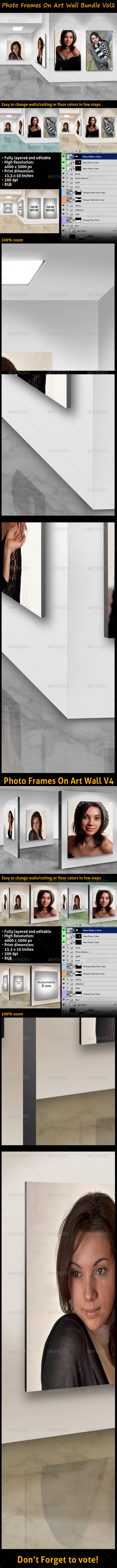 GraphicRiver Photo Frames On Art Wall Bundle Vol2 3484300
