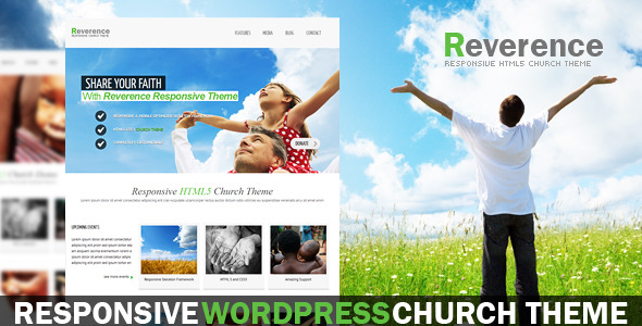 Reverence - Church Responsive WordPress HTML 5 The