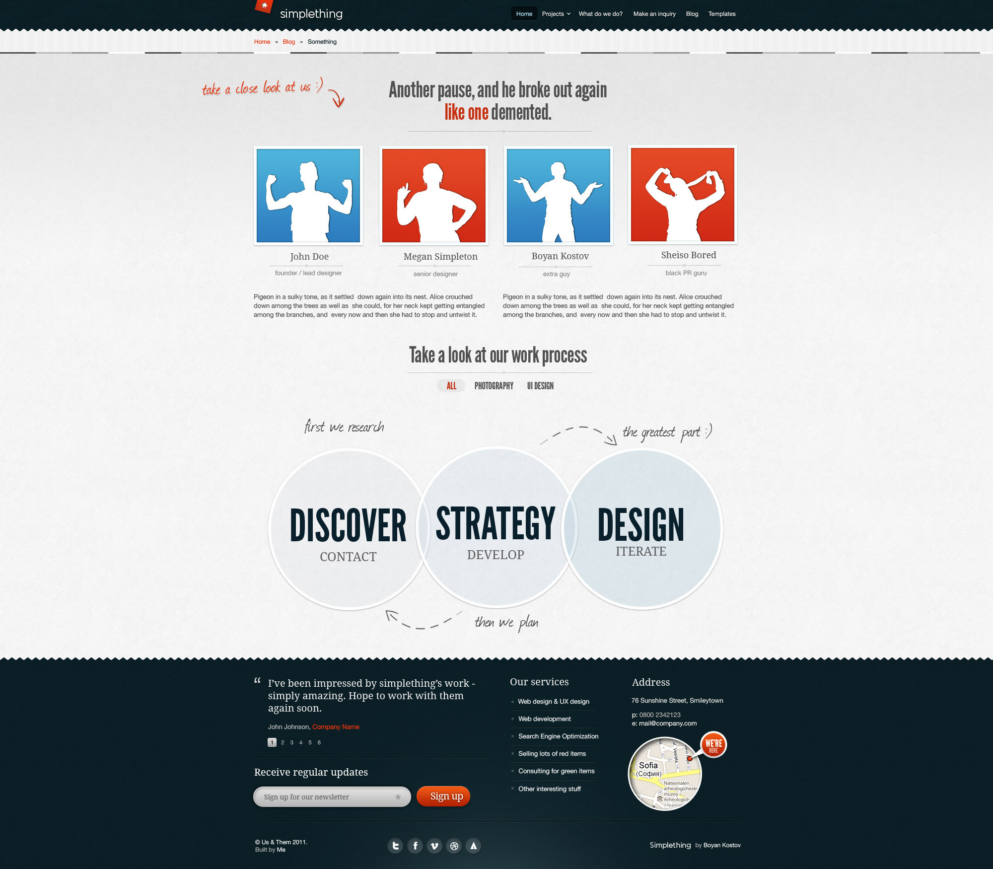 Simplething - a clean PSD template