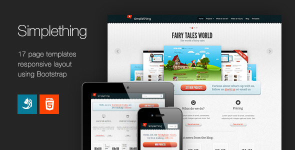ThemeForest Simplething a clean HTML template 3149829