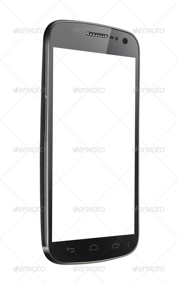 Blank Mobile Smart Phone Isolated - Stock Photo - Images