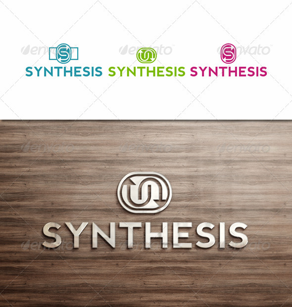 GraphicRiver Synthesis Business Logo in 3 versions 3485286