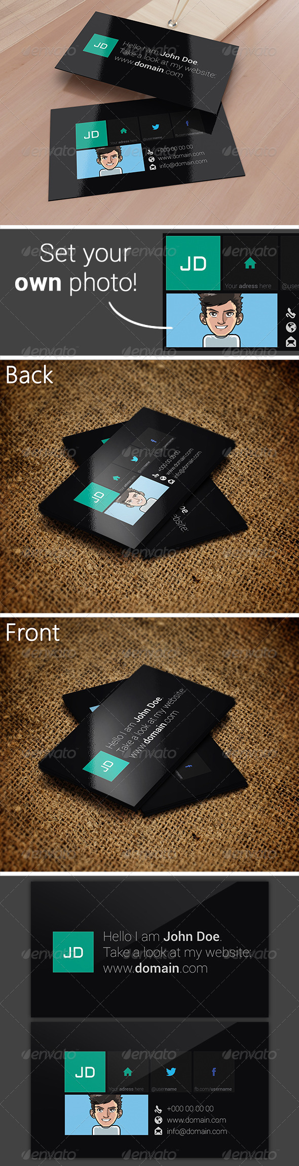GraphicRiver Metro Style Business Card 3485448