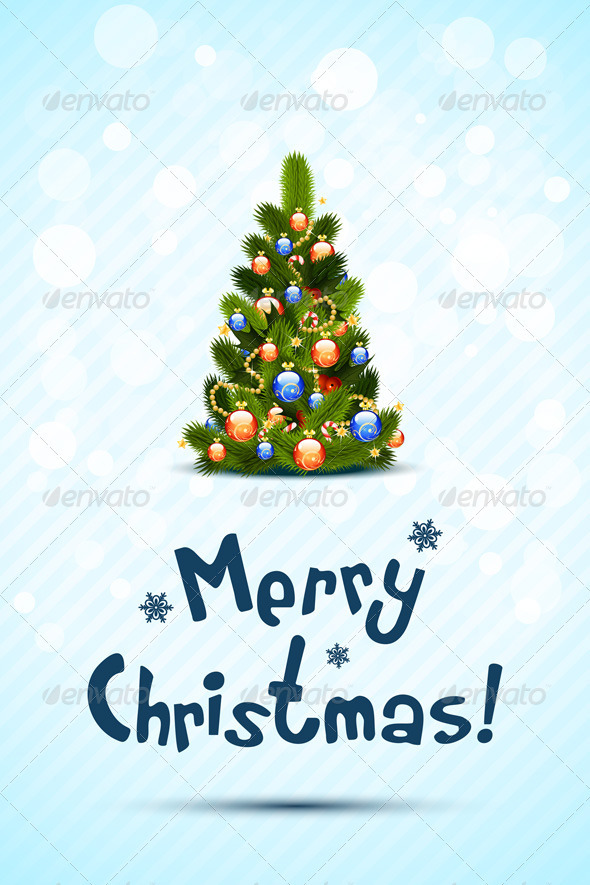 GraphicRiver Merry Christmas Greeting Card 3485505