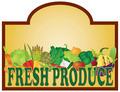 Fresh Produce Signage Illustration