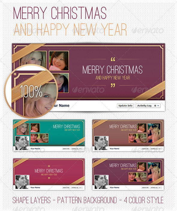 GraphicRiver FB Cover Happy New Year 3485825