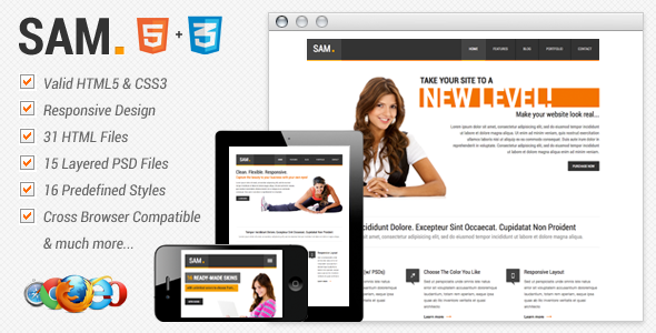 ThemeForest Sam Premium HTML Template 3466150