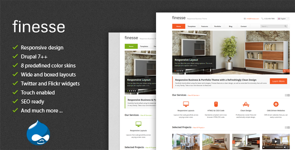Finesse - Responsive Business Drupal Theme