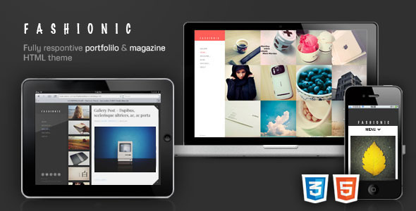 ThemeForest Fashionic AJAX Responsive Template 3456806