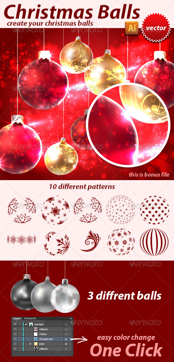 GraphicRiver Christmas Balls 3487528