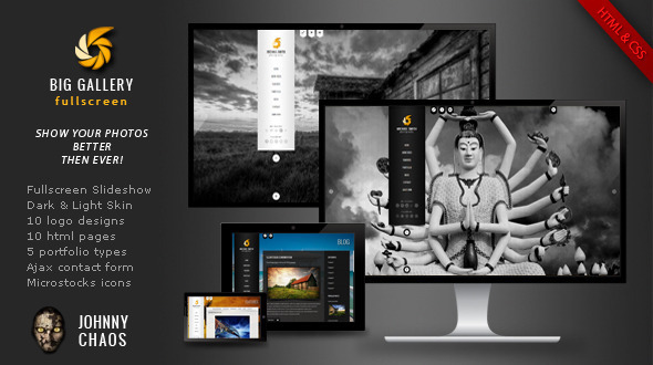 ThemeForest BIG Gallery Fullscreen Photography Portfolio 2793531