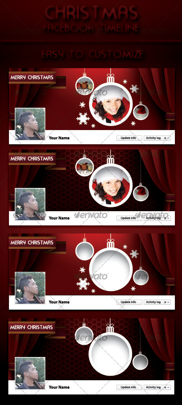 GraphicRiver Christmas Facebook Timeline 3488244
