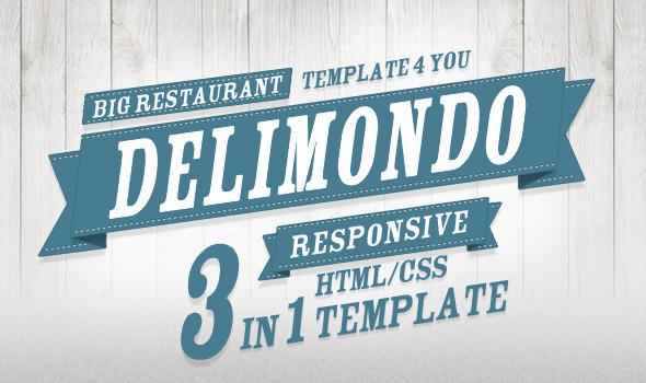 ThemeForest Delimondo Fully Responsive HTML 3 Styles 3452485