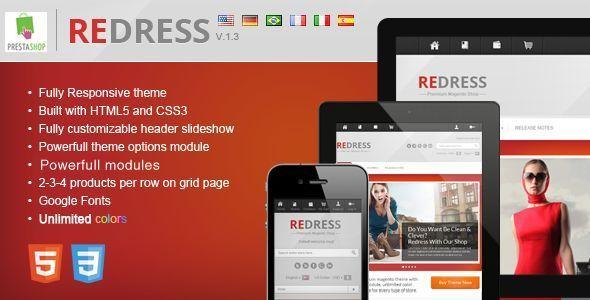 ThemeForest Redress responsive prestashop theme 3488413