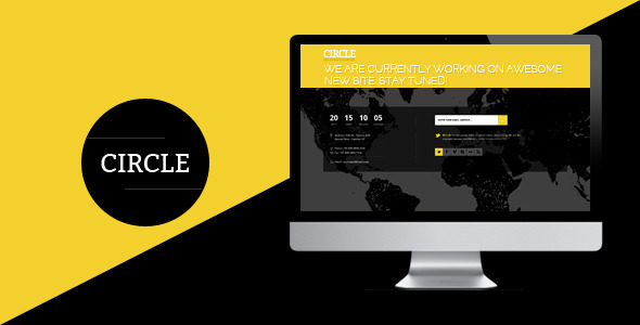 Circle - Coming Soon Responsive Template - Under Construction Specialty Pages