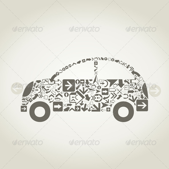 GraphicRiver Car Arrows 3488589