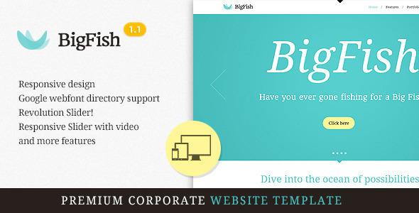ThemeForest BigFish Premium Responsive HTML5 Template 3305270
