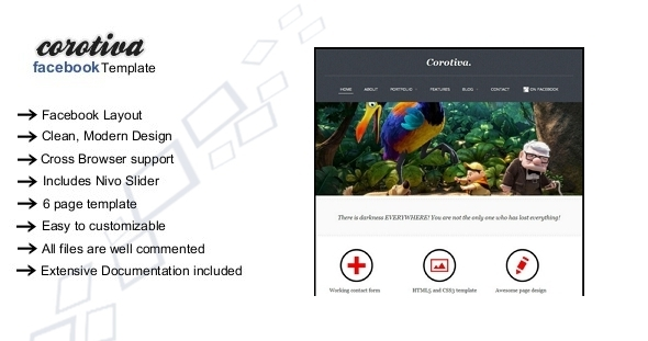 Corotiva - Facebook Business Template - Business Corporate