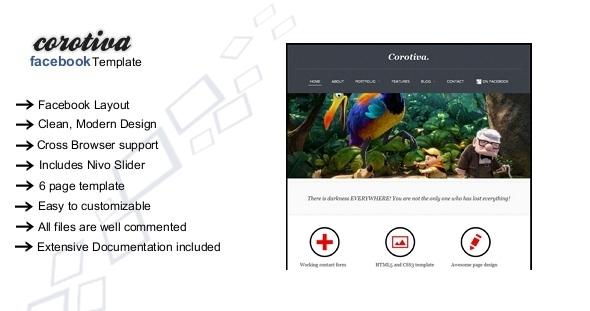 ThemeForest Corotiva Facebook Business Template 3471142