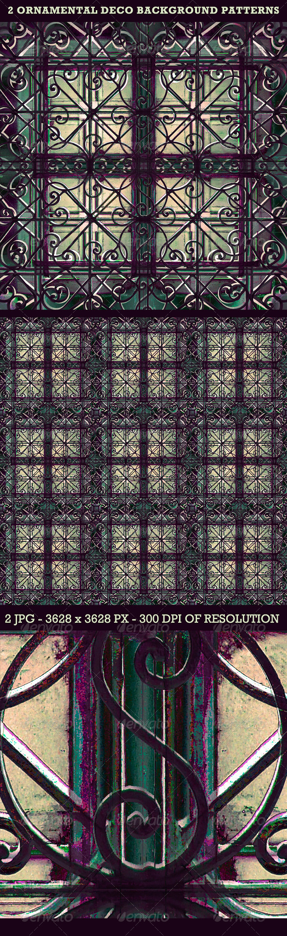 Ornamental Deco Background Pattern - Backgrounds Decorative
