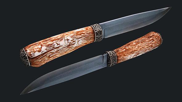 3DOcean Kizlyar hunting knife 3488983
