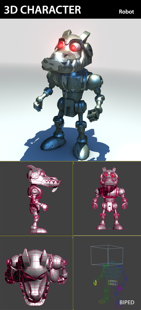 3DOcean 3D Character Robot 374194