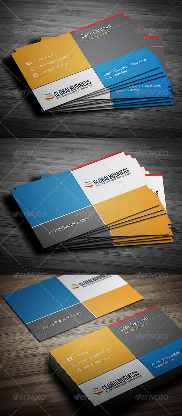 GraphicRiver Corporate Business Card 25 3489125