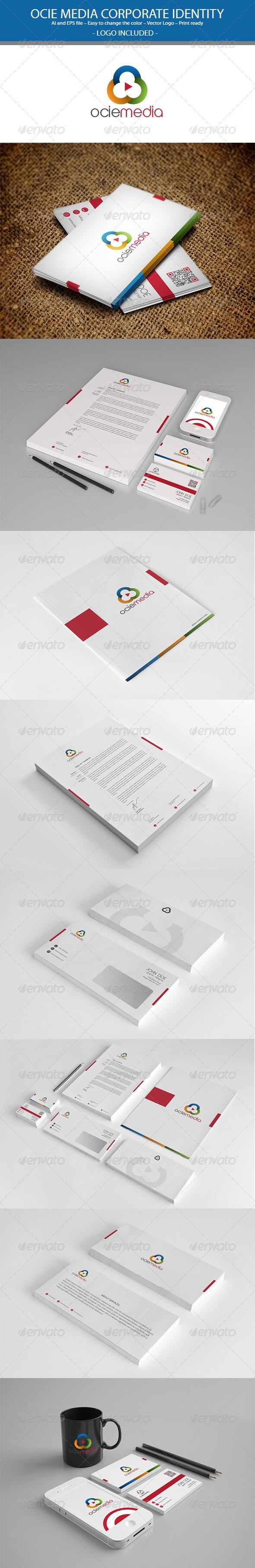 GraphicRiver Ocie Media Corporate Identity 3489492
