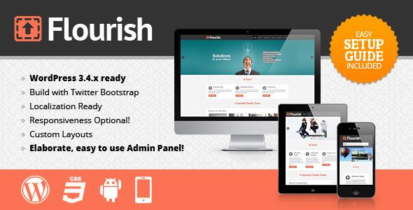 ThemeForest Flourish Responsive WordPress Theme 3489562