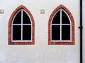 Urban white wall with decorative windows - PhotoDune Item for Sale