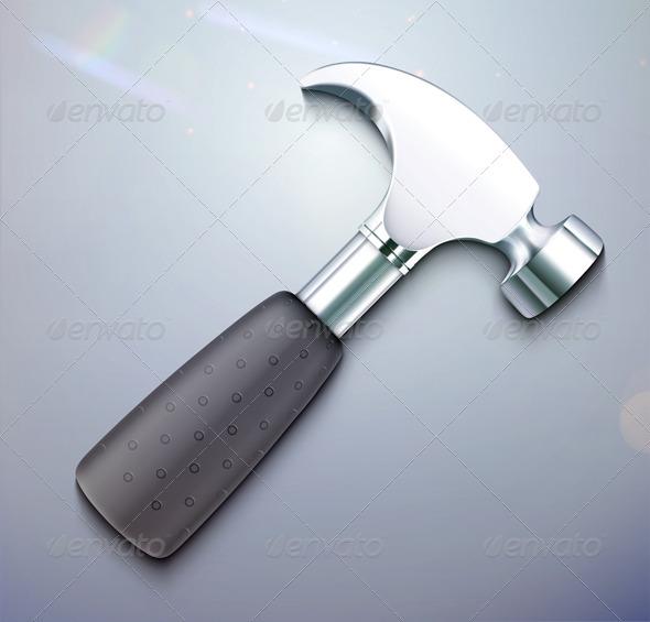 GraphicRiver Hammer Icon 3490955
