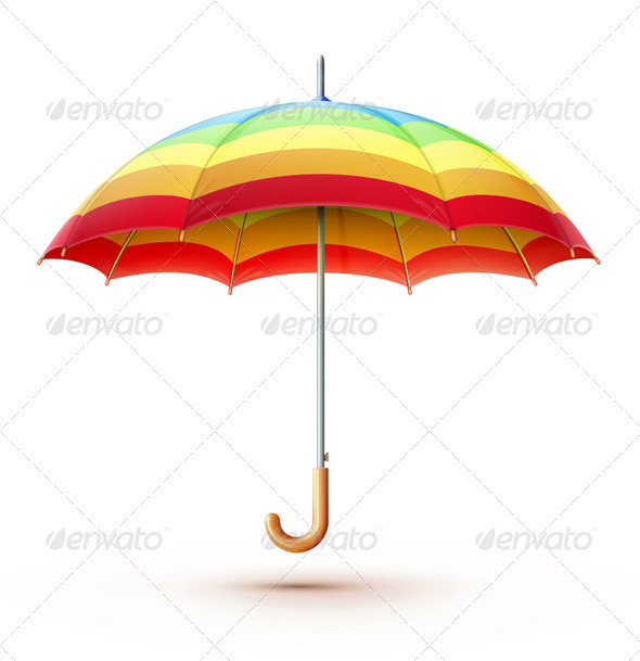 GraphicRiver Multicolored Umbrella 3491037