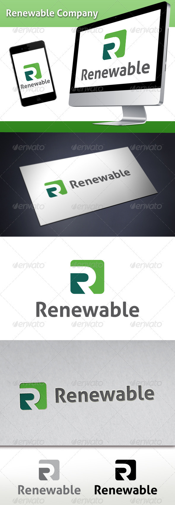 GraphicRiver Renewable Company Logo 3471862
