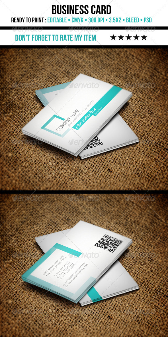 GraphicRiver Corporate Business Cards 3491713