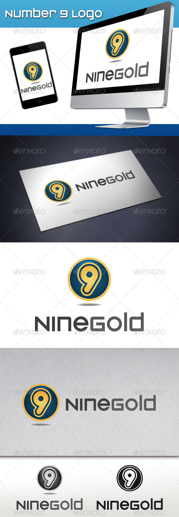 Number 9 Logo - Numbers Logo Templates