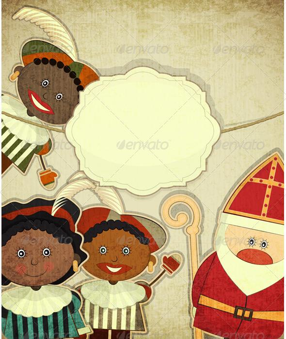 GraphicRiver Christmas card with Dutch Santa Claus Sinterklaas 3491788
