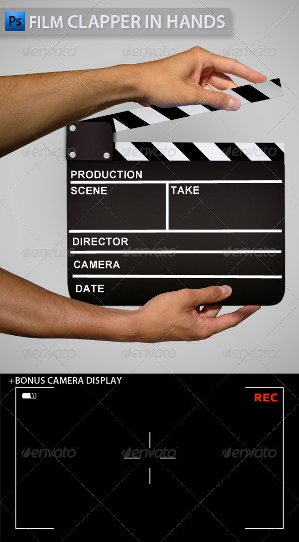 GraphicRiver Clapper in Hands 3492043