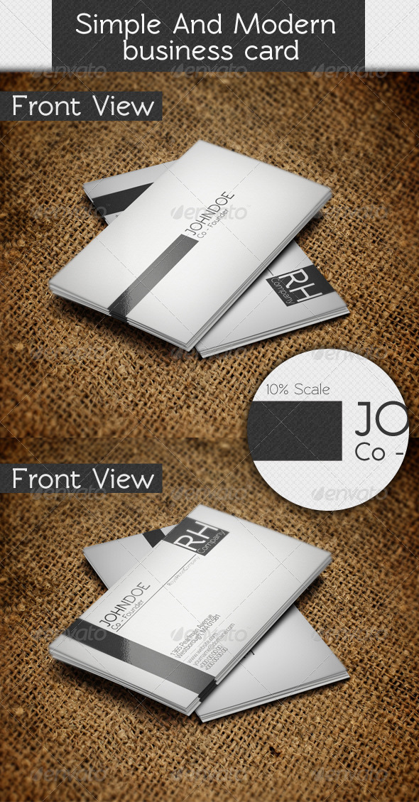 GraphicRiver Simple and Modern Business Card 3493480