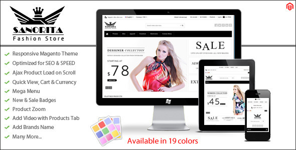 Sanorita responsive magento theme free download magento sanorita is a responsive magento theme a premium magento theme with minimal clean modern and stylish design it was designed with focus on user maxwellsz