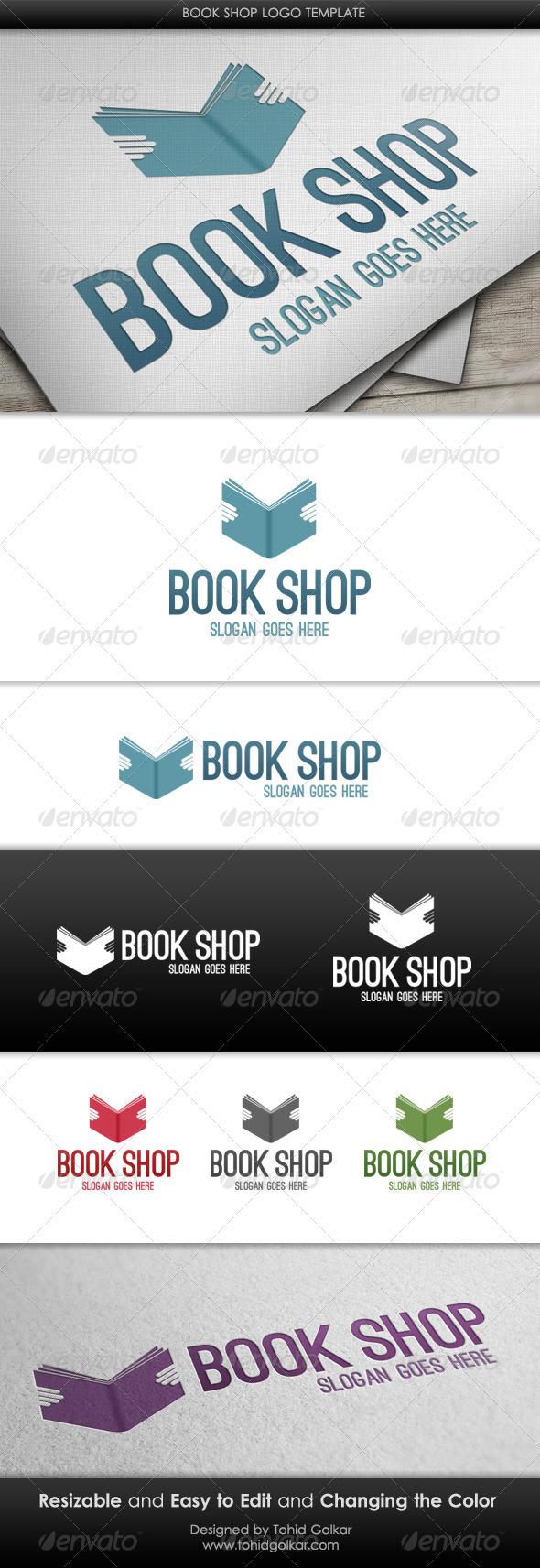 Book Shop Logo Template