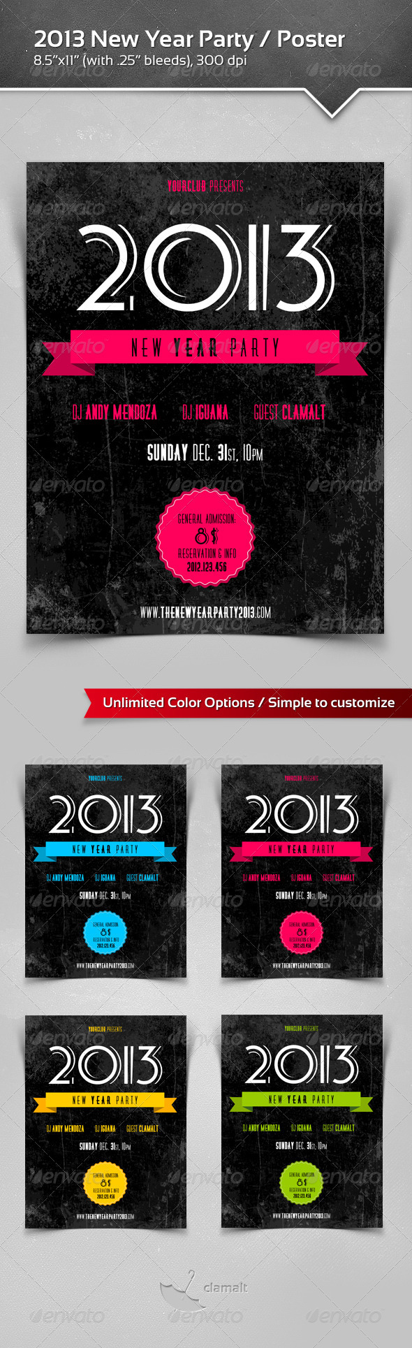 GraphicRiver 2013 New Year Party Poster 3494814