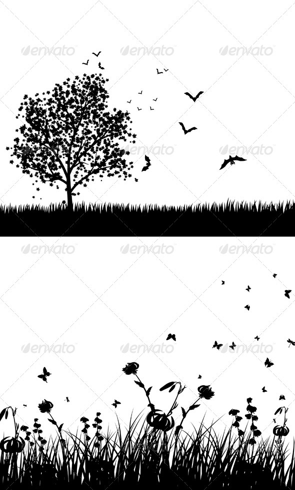 GraphicRiver Set of Meadow 3494829