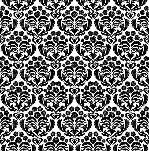 GraphicRiver Seamless Damask Pattern 3494844