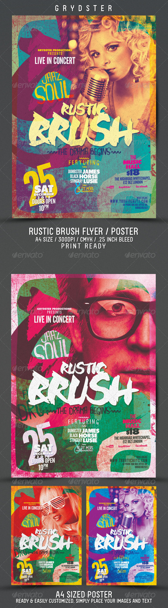 GraphicRiver Rustic Brush Poster Flyer 3494984