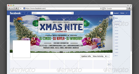 GraphicRiver XMas Nite FB Timeline Cover 3460495