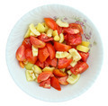 Salad on Plate Isolated on White - PhotoDune Item for Sale